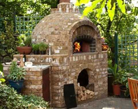 Pizza Oven in sunny garden