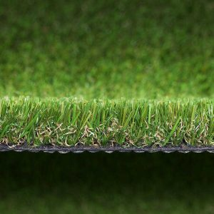 close up of light green artificial grass