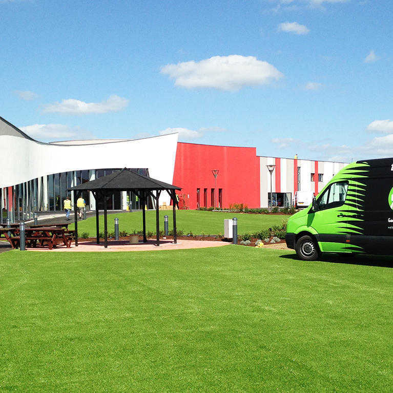 namgrass van delivering artificial grass