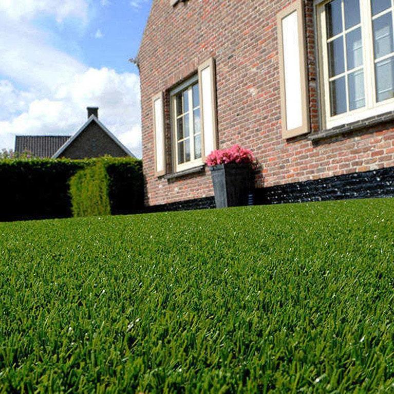 dark green fake grass