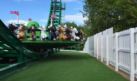 artificial grass laid by rollcer coaster