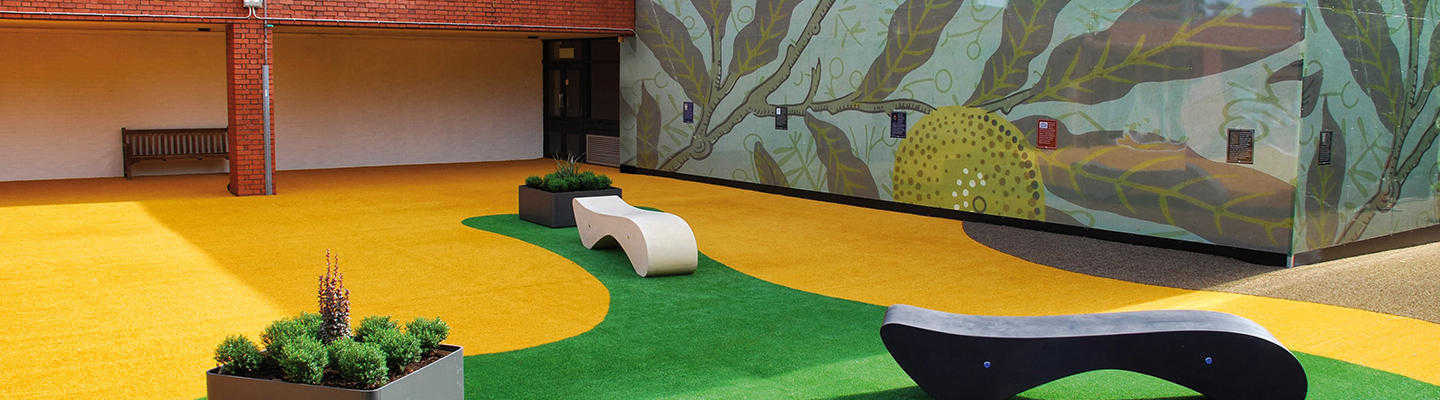 namgrass coloured grass in play area