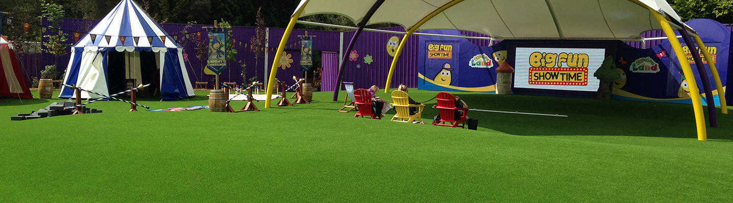 artificial grass laid for kids