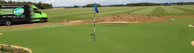 artificial grass golf surface