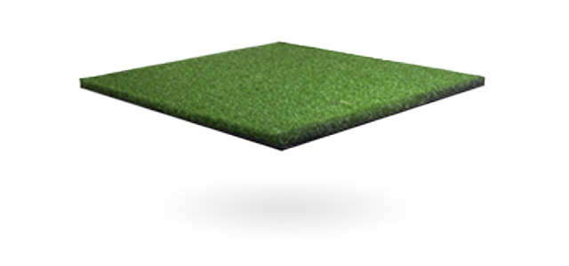 close up of artificial golf surface
