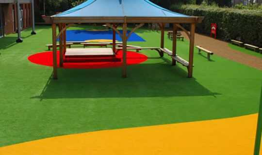 artificial grass patterns in school nursery