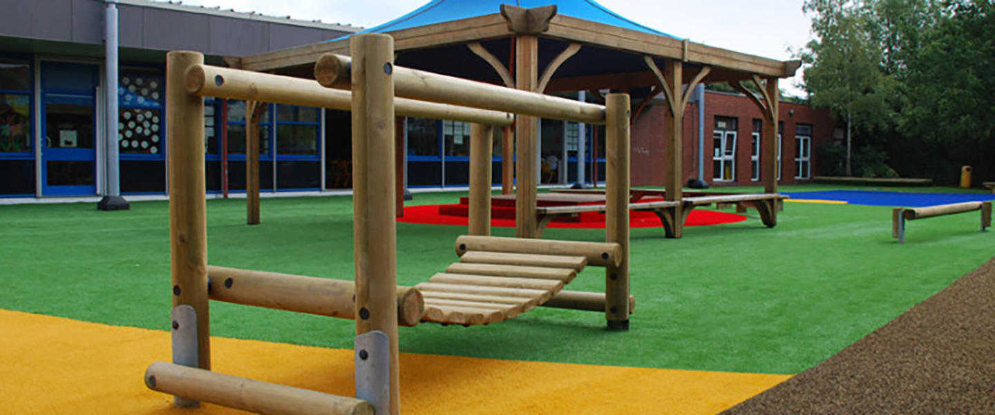 Namgrass Living Colours artificial grass in school play ground