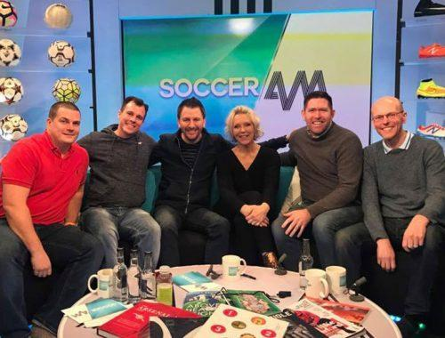 Guests on Soccer AM sofa