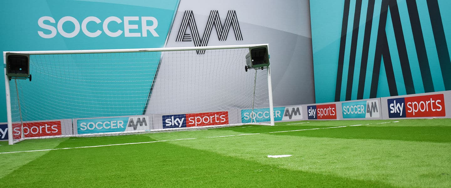 artificial grass pitch at Soccer AM TV show
