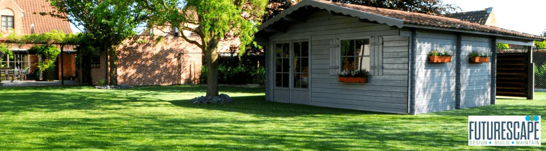 garden house on artificial grass