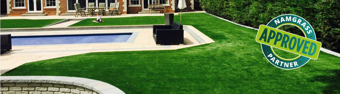 Artificial Grass by Namgrass installed in Kent by Luxury Lawns