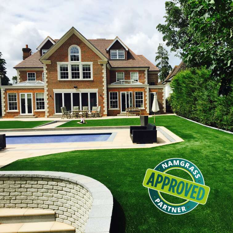 Namgrass Artificial Grass Installation in Kent by Luxury Lawns