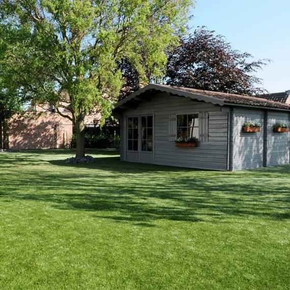 Serenity Bright Artificial Grass garden