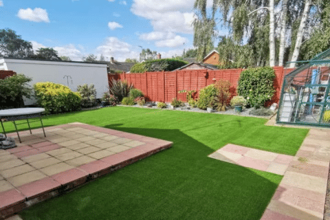 to show an artificial grass install